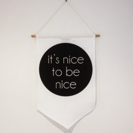 Nice to be Kind - Black