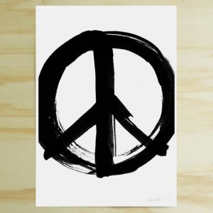 Peace Sign print by Blacklist