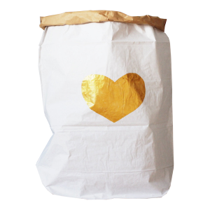 heart gold bag