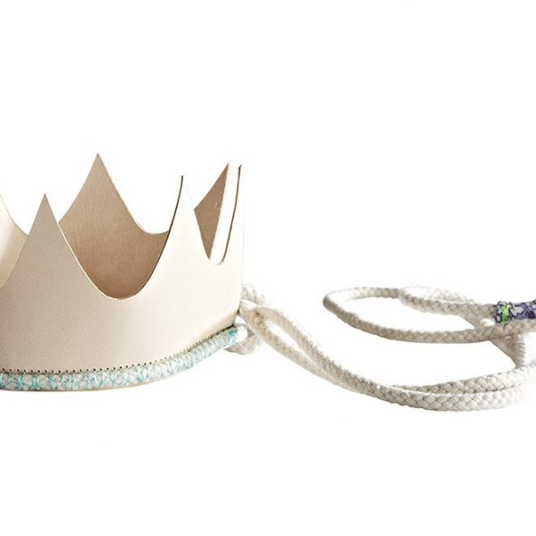 Queenie leather crown