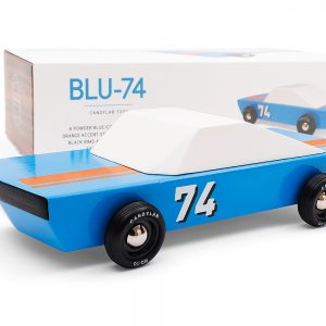 Blu74 wooden car by CandyLab Toys