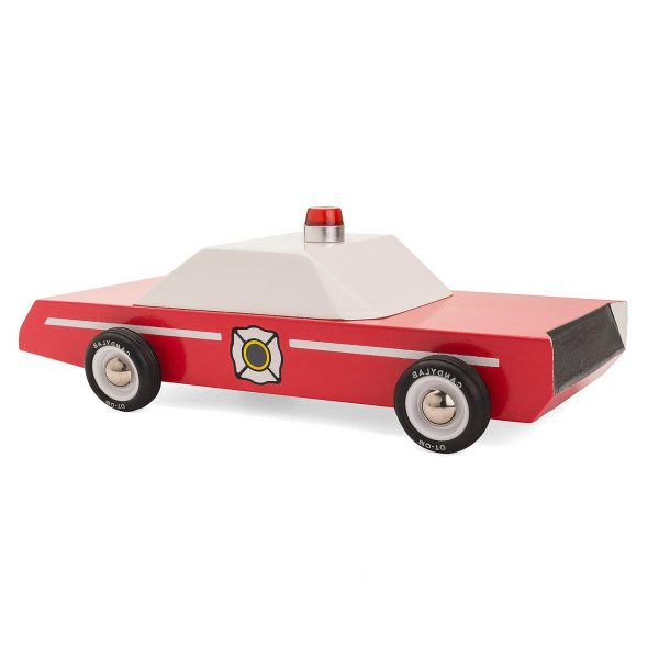Fire Chief wooden car by CandyLab toys